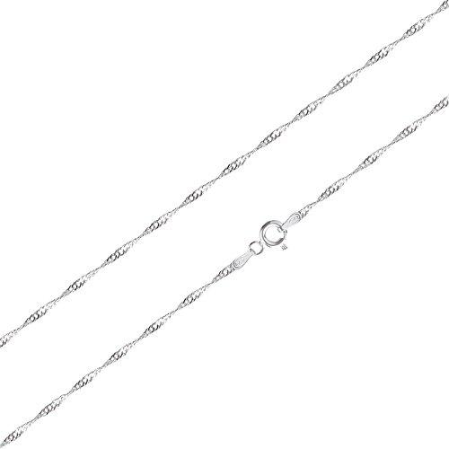 Schöner-SD 925 Silber-kette Halskette gedreht Singapurkette 42cm