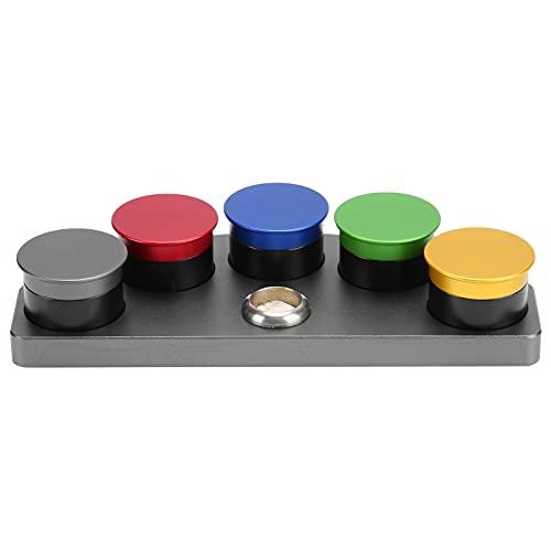 Kit de engrasador de Reloj Aleación de Cinco Agujeros Reloj Platos de Aceite Taza de Aceite Pieza de reparación de Reloj Accesorio 11,6 cm/4,57 Pulgadas
