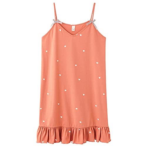Nachthemd Negligees Sexy 9 Farben Damen Nachtkleid Liebe Hunde Spaghettiträger Pyjama Sweet Bows Baumwolle Nachtwäsche Elegante Nachthemden Rüschen Pyjama L Y7005