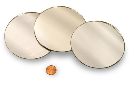 """National Artcraft Round 3"""" Mirror Can Be Used in Many Craft Projects (Pkg/10)"""