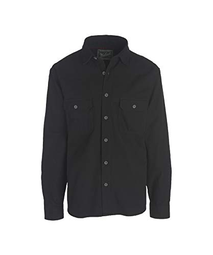 Woolrich Men's Expedition Chamois Shirt, Black, Small