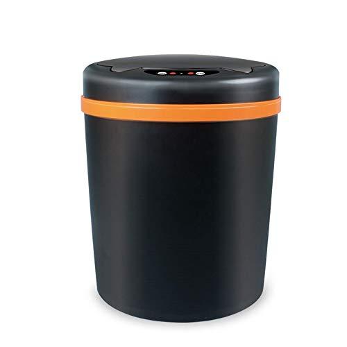 Cubo de basura plegable para cocina, con sensor automático, cubo de basura de plástico, para sala de estar, cubo de basura eléctrico inteligente para cocina (color: negro)