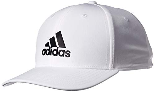 adidas Golf A-Stretch Heather Tour Hat, White, One Size