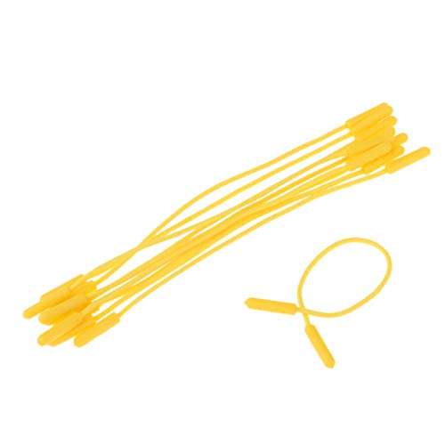 Baoblaze 10pcs Cordes Zipper Cordes Extension Zip tirettes Remplacement Sacs à Dos - Jaune, 145mm