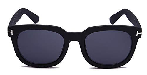 WXQDD-Sunglass Sonnenbrille Polarisiert Square James Bond Herren Sonnenbrille Brille Damen Super Star Celebrity Driving Sonnenbrille Tom Für Herren Brillen, Mattschwarz V Grau