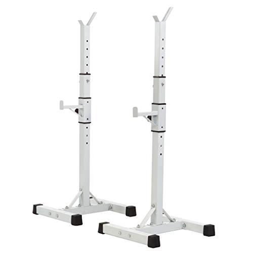Squat Rack Barbell Rack Press De Banca Equipo De Sentadillas Equipo De Fitness Multifuncional Conjunto De Barra Soporte De Sentadilla para El Hogar (Color : Blanco, Size : 40 * 47 * 140cm)