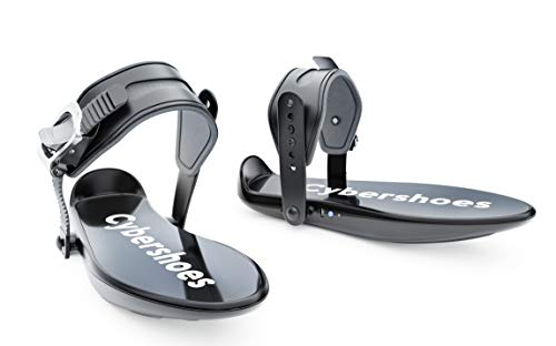 Cybershoes Gaming Station (not Compatible with Quest Stand Alone, use with Windows 10 and STEAM VR) Including Cyberchair and Cybercarpet - Virtual Reality Shoes for Active Gaming at Your Home