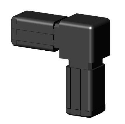 Winkelverbinder Kunststoff schwarz für 13,5x13,5x1,25mm Steckverbinder für Aluminiumprofile