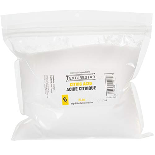 TextureStar Citric Acid Powder - 2 Pound (0.9 Kg), Perfect For Cleaning, Descaling, Bathbombs | All Natural, 100% Pure, Food Grade, Highest Quality, Non-GMO