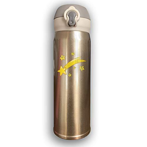 UKFaaa Star Comet Bouteille d'eau isotherme en acier inoxydable anti-fuite 500 ml
