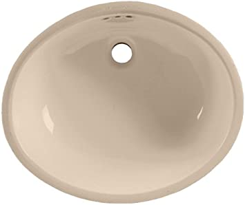American Standard 0497 221 045 Ovalyn 19 Inch Basin Undercounter Sink With Front Overflow Fawn Beige Bathroom Sinks Amazon Com