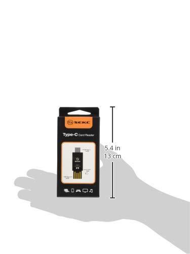 『SEKC microSDカードリーダー、Type-C 、Type-A USB 2.0対応 変換コネクタ 高速転送 ブラック STC-CR21』の7枚目の画像
