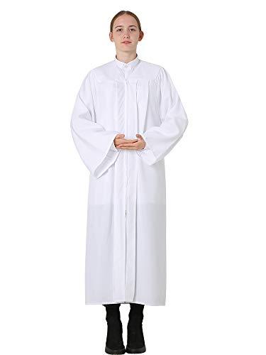 GraduatePro Vestido de graduación para coro, clero, maestros, disfraz de juez, unisex, para confirmación de la iglesia, bautismo, pastor, predicador, 12 colores