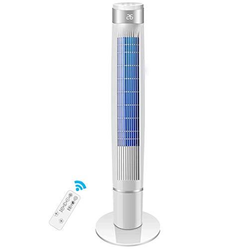 Enfriador de Aire Ventilador de Torre de Control Remoto portátil 6 velocidades de Viento, purificación de Iones Negativos, Pantalla LED de sincronización de 12 Horas, Sala de Estar, Dormitorio