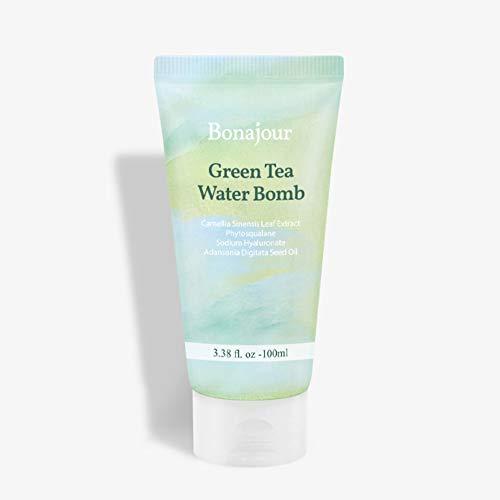 [BONAJOUR] Green Tea Water Bomb Vegan moisturizing facial cream for sensitive skin 3.51 Fl. oz