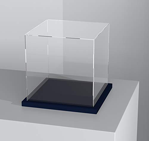 Acrylic Display Case with Lid, 14.5 Inch Acrylic Box with Black Velvet Disaply Stand, Clear Display Case for Collectibles, Action Figures (Outer Size 14.5x11x11 inch)