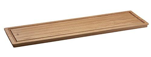 Rösle Servierbrett, Hickoryholz, rundumlaufende Griffmulde, rutschfeste Gummifüße, 70 x 20 x 2,5 cm
