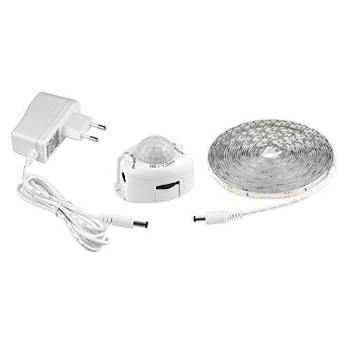 JISKGH Interruptor de Luz de Tira LED para Cocina/Dormitorio 12V IR Barrido Manual Sensor de Movimiento LáMpara de Control Cinta de Cinta Impermeable (Enchufe de la UE)
