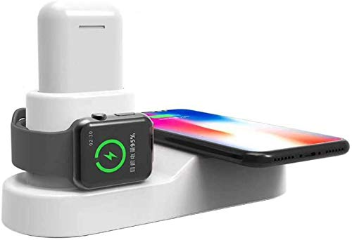 LY88 4-in-1-Qi-oplader voor iPhone 8 X XR XS Max Apple Watch 3 2 AirPods USB 10W snellader dock voor Samsung S9 S8, B.