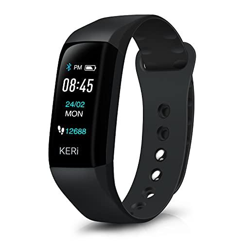 Audar KERi Fitness Braccialetto Smartwatch Orologio Activity Tracker Comune Impermeabile IP67 Smartband Pressione Sanguigna Cardiofrequenzimetro da Polso, Sonno Monitor&Schermo Colorato &Cronometro