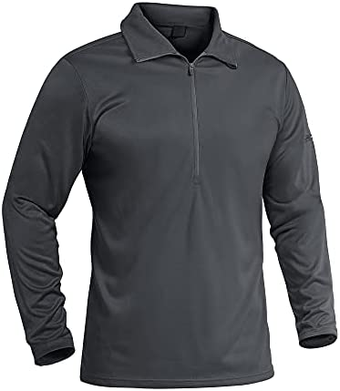 MAGNIVIT Men's 1/2 Zip Tactical Shirts Long Sleeve Performance Running Golf Polo Shirts