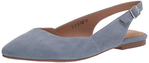 Amazon Essentials Piatto Donna con Sling Back Flats-Sandals, Micro Azzurro, 7