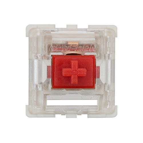 Gateron KS-9 RGB Mechanical MX Type Key Switch - Clear top (65 Pcs, Red)