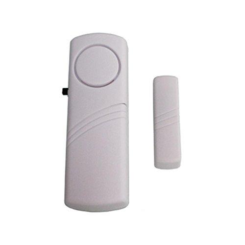 jintime Alarma antirrobo inalámbrica Puerta de Seguridad y Ventana, Sistema de Alarma antirrobo, Sensor magnético