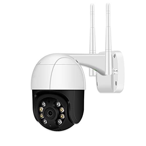 SUN JUNWEI Cámara de Vigilancia Cámara IP H.265 PTZ WiFi al Aire Libre ONVIF P2P 1080P HD 2MP Cámara WiFi Audio inalámbrico AI Detección Humana Cámara CCTV de Seguridad