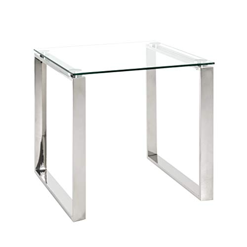HAKU Möbel Beistelltisch Edelstahl 55 x 55 x 55 cm