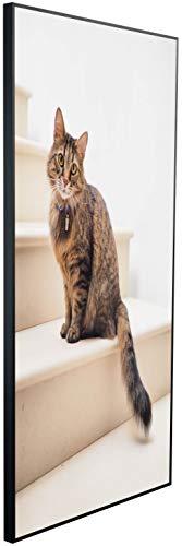 Ecowelle Infrarotheizung mit Bild | 750 Watt | 60x120 cm | Infrarot Heizung| | Made in Germany| b 93 Katze