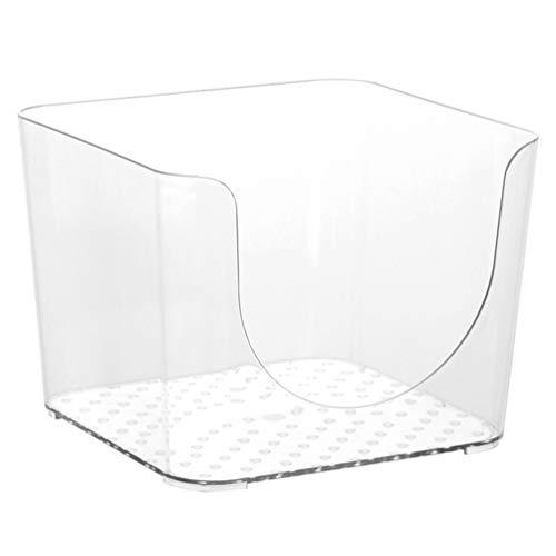 Lurrose Caja de Almacenamiento de Maquillaje de Plástico Caja de Almacenamiento de Cosméticos Transparente Caddy Escritorio Diversos Organizador Cesta Titular para El Gabinete de Encimera