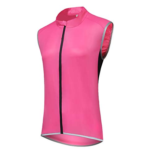 GWELL Damen Leicht Fahrradweste Radweste Fahrrad Regenjacke Wasserdicht Winddicht Atmungsaktiv Sportweste Gelbrot EU M