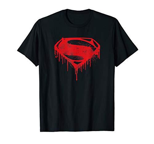 Batman v Superman Splattered Logo T Shirt