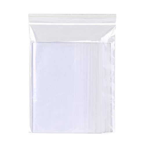 100 Pcs Bolsas de Plástico Transparentes Que se Pueden Volver a Sellar Bolsa Sellada Bolsas de Plástico con Cierre (10x15cm)