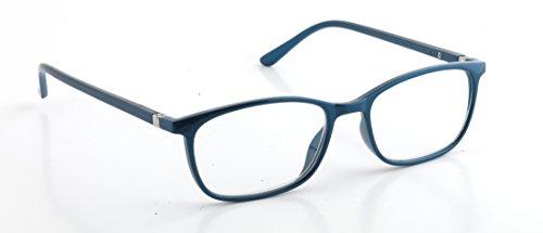 Pachleitner Elegante Lesehilfe mit Federscharnier und metallic Lackierung inklusive Etui, blau / +2 Dioptrien,