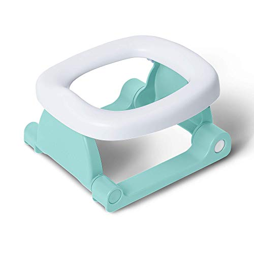 Pottiagogo P-P-002 Vasino Portatile da Viaggio per Bambini Pieghevole, Innovativo Materiale Antibatterico, Colore Verde, Verde - 390 g