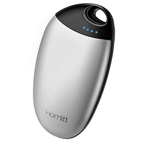 Homitt Scaldamani Ricaricabile USB, Scaldamani Tascabile Portatile 6700mAh, Riscaldamento Rapido, 4 Temperature Regolabili, Regalo Ideale per Anziani, Bambini, Amanti, Attività all'Aperto