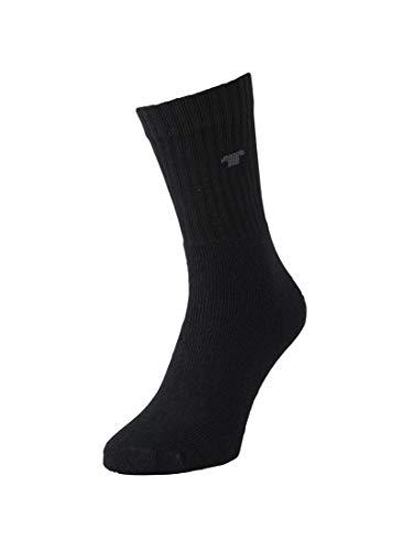 TOM TAILOR Unisex - Erwachsene Socken 3-er Pack, 9523 unisex Sportsocke 3 pack, Gr. 43-46, Schwarz (black 610)