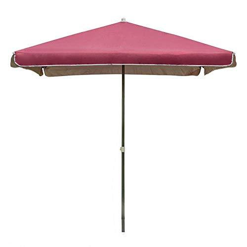 Riyyow Parasol Paraguas al Aire Libre Patio Mercado Mesa Paraguas, Tela de koxford Gruesa Que se Trata del Paraguas de Patio con 8 Costillas robustas, Azul/Rojo/Verde/Vino Tinto (Color : Red Wine)