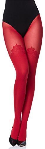 Merry Style Damen Strumpfhose Feinstrumpfhose MS 389 60 DEN(Rot, XL (44-48))