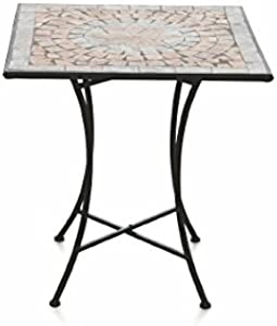 Galileo Casa Cipro Table carrée mosaïque 70 x 70 x 75 cm, Multicolore