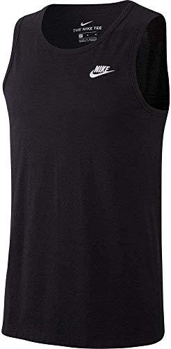 NIKE M NSW Club-Tank Camiseta sin Mangas, Hombre, Black/(White), S