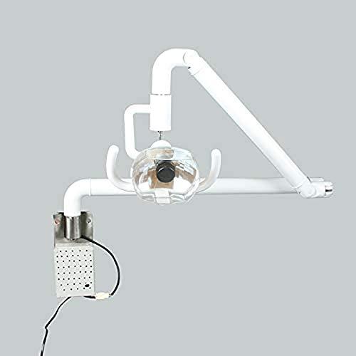 ZLRE Lámpara de inspección halógena Regulable montada en la Pared, lámpara quirúrgica médica Dental para Colgar en la Pared, luz fría sin Sombras con Brazo,Dental Chair