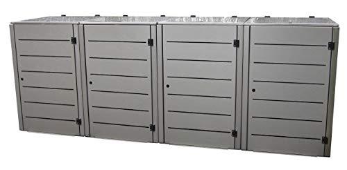 *Gero metall Mülltonnenbox Eleganza Line für Vier 120 Liter Mülltonnen*