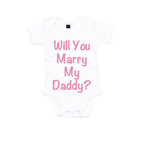 Vas tu-M My Daddy'sujeción oficial manga, rosa, matrimonio solicitud de boda crecimiento del bebé niña blanco blanco Talla:12-18 meses