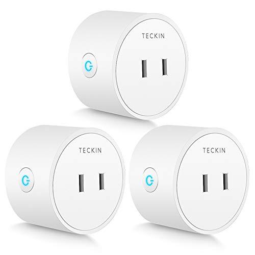 「Amazon Alexa認定取得製品」TECKIN スマートプラグ WiFi スマートコンセント Echo Alexa Google ホーム対応 遠隔操作 スケジュール設定 2.4GHzで動作 直差しコンセント ハブが必要なし 3個セット