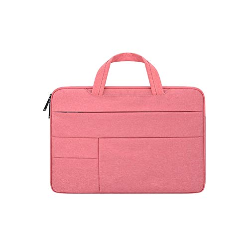 WSY Laptop Bag for Macbook Air Pro 11 13 15 17 Inch Multifunction Waterproof Notebook Sleeve Handbag for DELL HP Acer Xiaomi Lenovo (Color : Pink, Size : 15.6 inch)