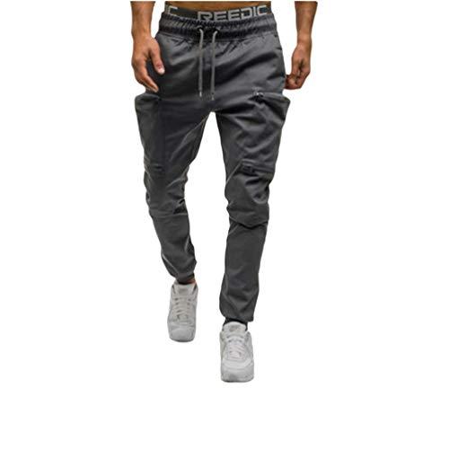 NiSeng Homme Pantalon Jogging Bas de Survêtement Couleur de Contraste Sweat Pants Hip-hop Sarouel Pantalon Imprimé Camouflage Patchwork 4# Gris XL