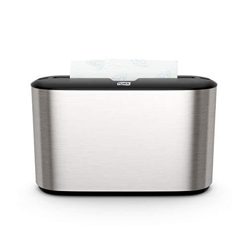 Tork Xpress Tischspender für Multifold Papierhandtücher 460005, Image Design - H2 Tisch-Handtuchspender für Falthandtücher zur Einzelblattentnahme, gebürsteter Edelstahl